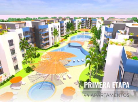 Vendo 2do. piso de 2 habitaciones proyecto en plano a pocos minutos del Aeropuerto internacional de Punta Cana.
